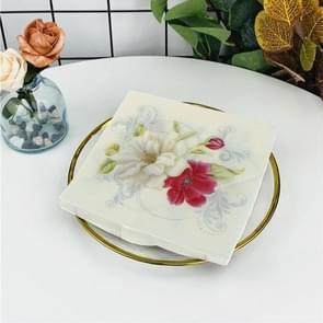 Kleurrijke gedrukte Lily Flower Wedding Banquet Servetten Placemats