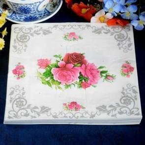 3 PCS Bloemen Cluster Wedding Servet Doek Doek Doek Kleurrijke Pinted Placemat
