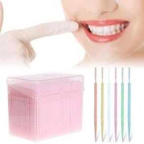 Double Head Simple Loaded Disposable Toothpick Portable Dental Care Cleaning Tool(Random Color Dlivery)