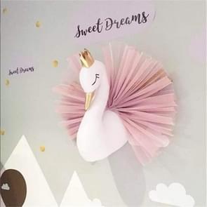 3D Wall Decor Wall Mount Cute Swan Stuffed Dolls Kids Room Wall Hanging Ornament