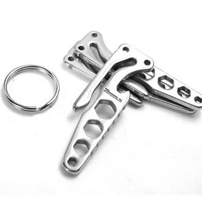 Pocket Carbon Stainless Steel Key Holder Bottle Opener Outdoor Sports Camping EDC Tool