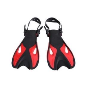 Rode volwassen kinderen verstelbare flippers snorkeluitrusting  grootte: 37-41 werven
