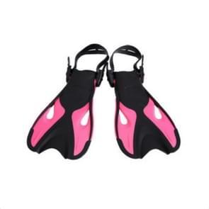 Rose rood volwassen kinderen verstelbare flippers snorkeluitrusting  grootte: 37-41 werven
