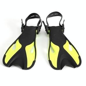 Gele volwassen kinderen verstelbare flippers snorkeluitrusting  grootte: 37-41 werven