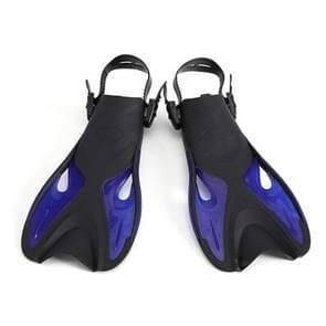 Blauwe volwassen kinderen verstelbare flippers snorkeluitrusting  grootte: 42-45 werven