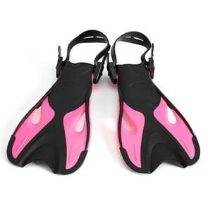 Rose rood volwassen kinderen verstelbare flippers snorkeluitrusting  grootte: 42-45 werven