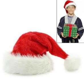 Dichte fluweel pluche kerstmutsen Kerst vakantie kerst Cap voor Santa Claus (rood)