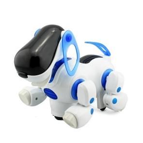 Slimme hond elektronische huisdier met muziek en licht kinderen educatieve speelgoed verjaardagsgift (blauw)