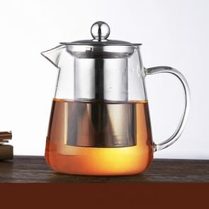 Large Capacity Heat Resistant Glass Teapot Tea Set With Stainless Steel Filter For Kung Fu Tea, Capacity:750ML