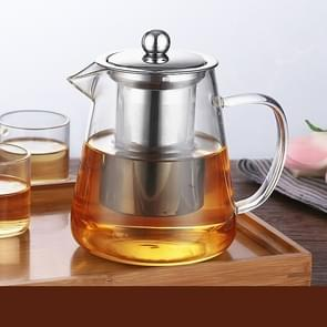 Large Capacity Heat Resistant Glass Teapot Tea Set With Stainless Steel Filter For Kung Fu Tea, Capacity:950ML