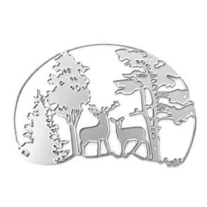 Deer DIY Embossing Mold Christmas Elk Carbon Steel Knife Mold