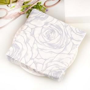 Kleurrijke gedrukte bruiloft bloem banket servetten Placemats (Grijs)
