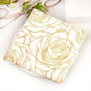Kleurrijke gedrukte Wedding Flower Banquet Servetten Placemats (Goud)