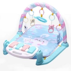 Baby Early Education Toy Baby Piano Fitness Frame Crawling Blanket Newborn Baby Toy(Blue)