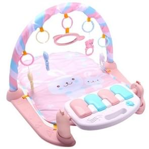 Baby Early Education Toy Baby Piano Fitness Frame Crawling Blanket Newborn Baby Toy(Pink)