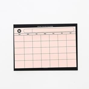 30 Sheets Weekly Planner Sticky Notes Cute Stationery Office Paper Memo Pad(Orange)