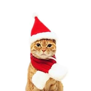 Cat Dog Christmas Hat Around Christmas Clothes Accessories, Size:S
