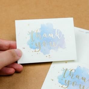 10 PCS Greeting Card Thanksgiving Card Gift Thanks Card(Thank You Blue)