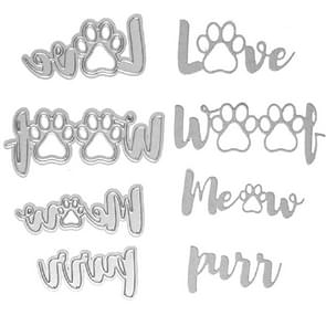 2 Sets Animal Footprints Cat Claw Knife Die Cutting Book Album Greeting Card Embossing Mold