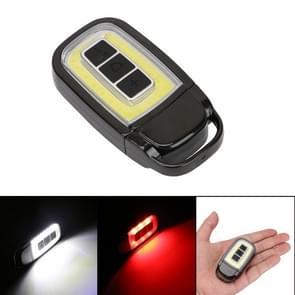 Portable Mini USB LED Flashlight Torch COB Car Key Pocket Flashlight Emergency Camping Night Light with 3-Modes