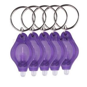 2 PCS Mini Pocket Keychain Flashlight Micro LED Squeeze Light Outdoor Camping Ultra Bright Emergency Key Ring Light Torch Lamp(Purple)