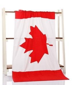 Microfiber Bath Towel Printing Beach Towel Super Soft Bath Towel, Size:70×140cm(Canadian Flag)