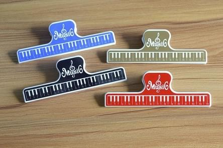 5 PCS / Pack Colorful Plastic Sheet Music Clip, Size:15.5x2x4.8cm