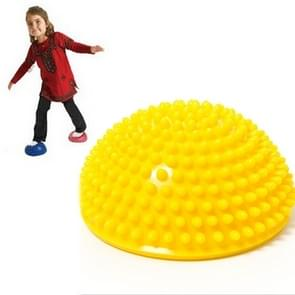 Hemisphere Balance Stepping Stones Durian Spiky Massage Ball Sensory Integration Indoor Outdoor Games Toys for Kids Children(Yellow)