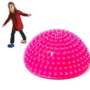 Hemisphere Balance Stepping Stones Durian Spiky Massage Ball Sensory Integration Indoor Outdoor Games Toys for Kids Children(Rose Red)