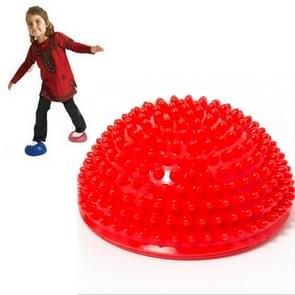 Hemisphere Balance Stepping Stones Durian Spiky Massage Ball Sensory Integration Indoor Outdoor Games Toys for Kids Children(Red)
