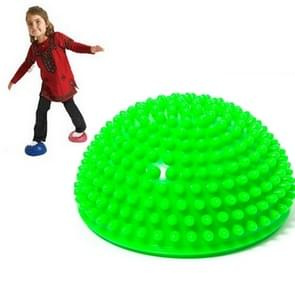 Hemisphere Balance Stepping Stones Durian Spiky Massage Ball Sensory Integration Indoor Outdoor Games Toys for Kids Children(Green)