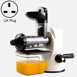 Multifunction Home Manual Juicer Apple Orange Wheatgrass Portable DIY Juicer, Plug Type:UK(WHITE)