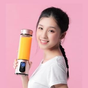 Portable Mini USB Electric Juicer Fruit Extractors Milkshake Sports Bottle(Gold)