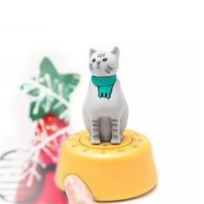 Cartoon Cat Shape Countdown Timer Student Learning Time Manager Keuken Timer Mechanische Herinnering (Geel)