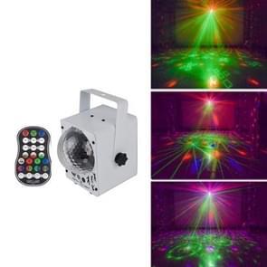 18W 60 Soorten Patroon Crystal Magic Ball Laser Lights Huishouden LED Kleurrijke Starry Sky Projection Lights Voice-geactiveerde Stage Lights  Plug Type: EU Plug (Wit)