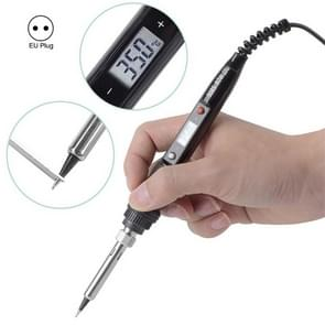908S 80W LCD Thermostaat solderen Iron Constant Temperatuur Soldering Iron  Plug Type:EU Plug(Black)
