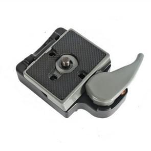 BEXIN Tripod Head Quick Release Plate Holder voor Manfrotto 200PL-14(Grijs)