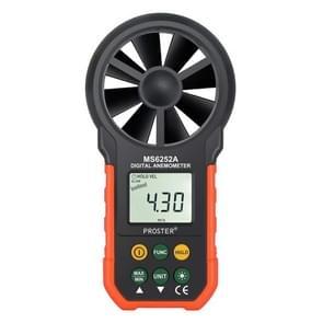 PEAKMETER High-precision Digital Display Wind Speed Air Volume Measuring Instrument MS6252A Wind Speed, Air Volume