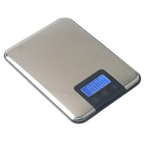 15kg x 1g Stainless Steel High Precision Kitchen Touch Electronic Scale, Load Bearing:15kg