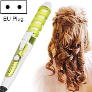 Professionele salon Hair krultang magische spiraal curling ijzer keramische elektrische haar curling toverstaf (groen)