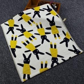 Cotton three-layer Gauze Square Cotton Towel Cartoon Hanging Towel(Yellow rabbit)