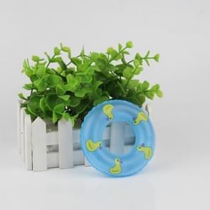 3 PC'S cute Doll House mini zwemmen ring decoratie kinderen educatief speelgoed (blauw)