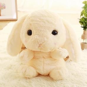 Pluche konijn lang oor Bunny Kids tas student pluche speelgoed kinderen rugzak (licht geel)