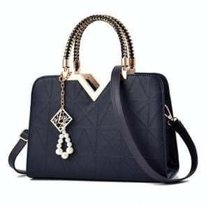Zomer vrouwelijke telefoon Pocket rits handtassen flap lederen schouder Cross Body zakken (donkerblauw)