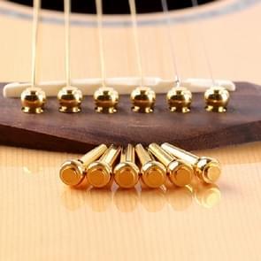 6 PCS Universal Guitar String Nail Folk Ballad Cone Guitar Accessories(Copper)