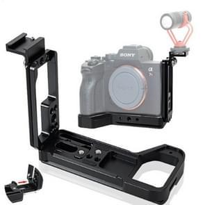 BEXIN Verticale klapper met hot shoe L-vormige quick-install plaat kan worden getrokken voor Sony A7R4