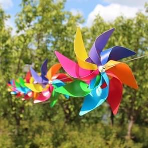 10 PCS Eight-leaf Colorful Plastic Windmill String Garden Outdoor Decoration Children Toys Diameter: 20 cm