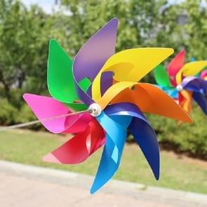 10 PCS Eight-leaf Colorful Plastic Windmill String Garden Outdoor Decoration Children Toys Diameter: 38 cm