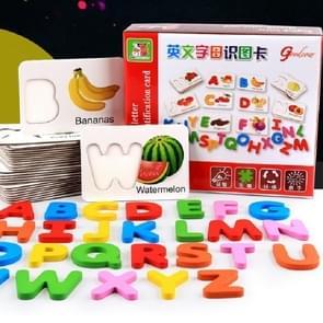 Engels Alfabet Erkenning Kaart voor kinderen leren houten puzzels