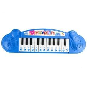 Schattig mini 21 belangrijke vroege onderwijs elektronische toetsenbord kinderen muziek speelgoed (blauw)